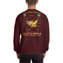 Load image into Gallery viewer, USS Iowa (BB-61) 1989 Cruise Sweatshirt