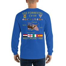 Load image into Gallery viewer, USS Forrestal (CV-59) 1988 Long Sleeve Cruise Shirt