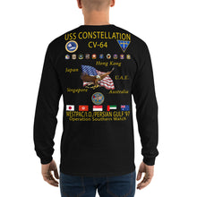 Load image into Gallery viewer, USS Constellation (CV-64) 1997 Long Sleeve Cruise Shirt