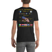 Load image into Gallery viewer, USS Intrepid (CVS-11) 1972-73 Cruise Shirt
