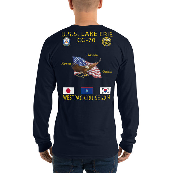 USS Lake Erie (CG-70) 2014 Long Sleeve Cruise Shirt