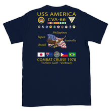 Load image into Gallery viewer, USS America (CVA-66) 1970 Cruise Shirt