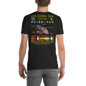 USS Coral Sea (CV-43) 1985-86 Cruise Shirt