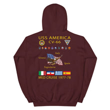 Load image into Gallery viewer, USS America (CV-66) 1977-78 Cruise Hoodie