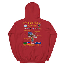 Load image into Gallery viewer, USS Enterprise (CVN-65) 1976-77 Cruise Hoodie
