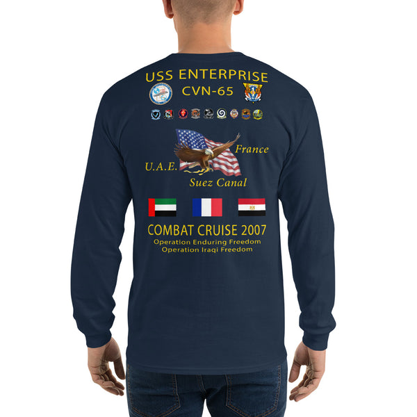 USS Enterprise (CVN-65) 2007 Long Sleeve Cruise Shirt