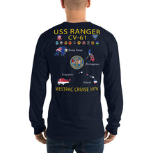 Load image into Gallery viewer, USS Ranger (CV-61) 1976 Long Sleeve Cruise Shirt - Map