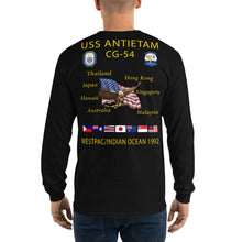 Load image into Gallery viewer, USS Antietam (CG-54) 1992 Long Sleeve Cruise Shirt