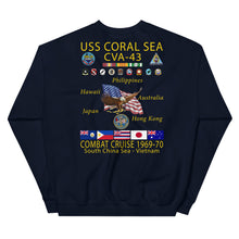 Load image into Gallery viewer, USS Coral Sea (CVA-43) 1969-70 Cruise Sweatshirt