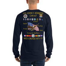 Load image into Gallery viewer, USS John F. Kennedy (CVA-67) 1971-72 Long Sleeve Cruise Shirt