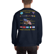 Load image into Gallery viewer, USS Dwight D. Eisenhower (CVN-69) 1982 Cruise Sweatshirt