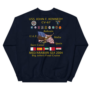 USS John F. Kennedy (CV-67) 2004 Final Cruise Sweatshirt