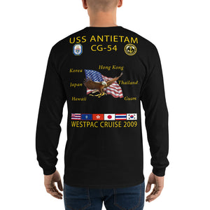 USS Antietam (CG-54) 2009 Long Sleeve Cruise Shirt