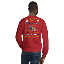 Load image into Gallery viewer, USS Enterprise (CVN-65) 1986 Cruise Sweatshirt