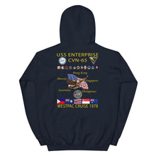Load image into Gallery viewer, USS Enterprise (CVN-65) 1978 Cruise Hoodie