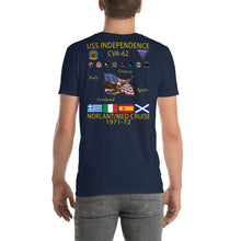 Load image into Gallery viewer, USS Independence (CVA-62) 1971-72 Cruise Shirt