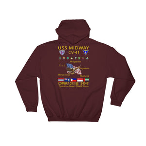 USS Midway (CV-41) 1990-91 Cruise Hoodie