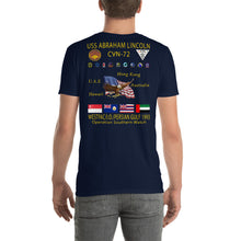 Load image into Gallery viewer, USS Abraham Lincoln (CVN-72) 1993 Cruise Shirt