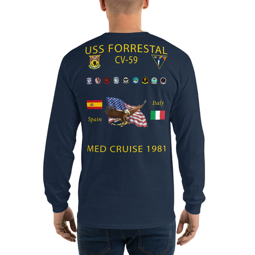 USS Forrestal (CV-59) 1981 Long Sleeve Cruise Shirt