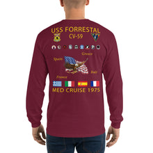 Load image into Gallery viewer, USS Forrestal (CV-59) 1975 Long Sleeve Cruise Shirt