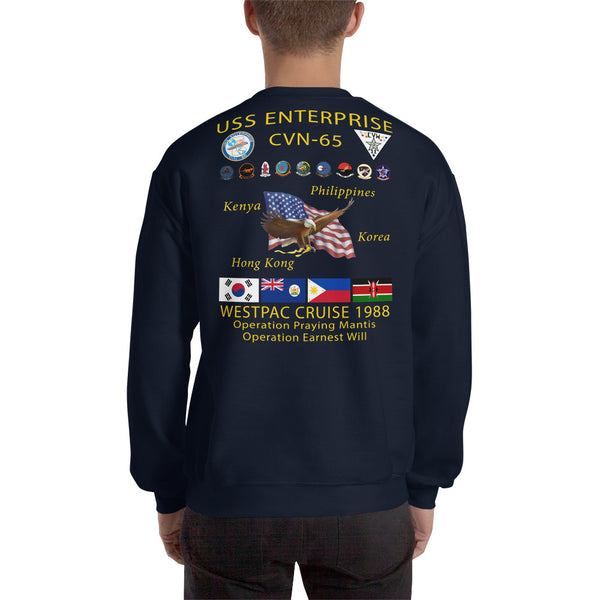 USS Enterprise (CVN-65) 1988 Cruise Sweatshirt