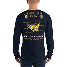 Load image into Gallery viewer, USS New Jersey (BB-62) 1986 Long Sleeve Cruise Shirt