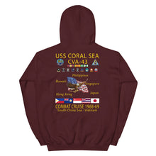 Load image into Gallery viewer, USS Coral Sea (CVA-43) 1968-69 Cruise Hoodie