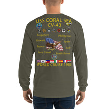 Load image into Gallery viewer, USS Coral Sea (CV-43) 1983 Long Sleeve Cruise Shirt