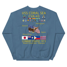 Load image into Gallery viewer, USS Coral Sea (CVA-43) 1973 Cruise Sweatshirt