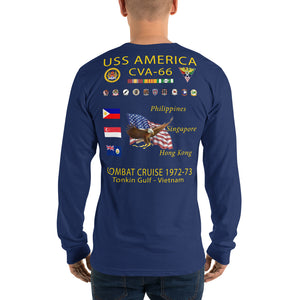 USS America (CVA-66) 1972-73 Long Sleeve Cruise Shirt