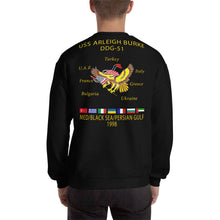 Load image into Gallery viewer, USS Arleigh Burke (DDG-51) 1998 Cruise Sweatshirt