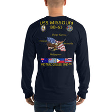 Load image into Gallery viewer, USS Missouri (BB-63) 1987-88 Long Sleeve Cruise Shirt