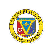 Load image into Gallery viewer, USS Peleliu (LHA-5) Ship's Crest Vinyl Sticker