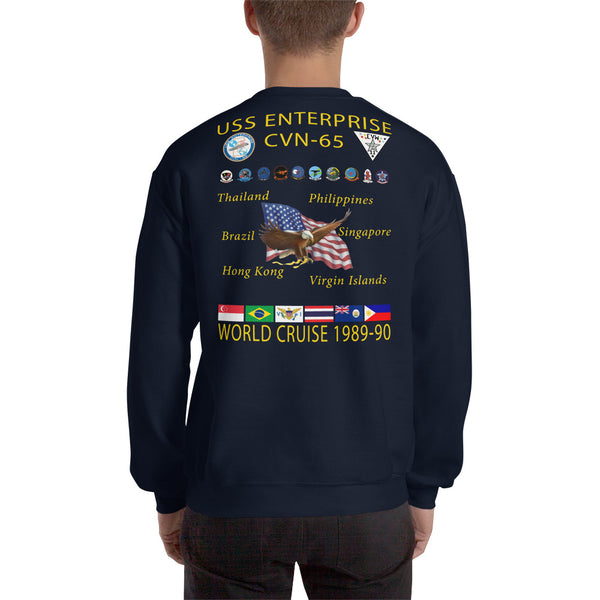 USS Enterprise (CVN-65) 1989-90 Cruise Sweatshirt