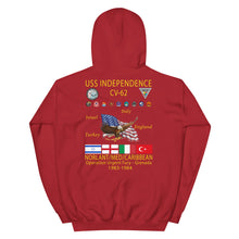 Load image into Gallery viewer, USS Independence (CV-62) 1983-84 Cruise Hoodie