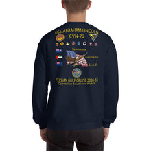 Load image into Gallery viewer, USS Abraham Lincoln (CVN-72) 2000-01 Cruise Sweatshirt