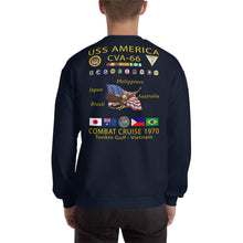 Load image into Gallery viewer, USS America (CVA-66) 1970 Cruise Sweatshirt