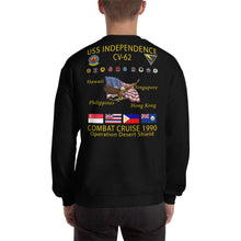 Load image into Gallery viewer, USS Independence (CV-62) 1990 Cruise Sweatshirt