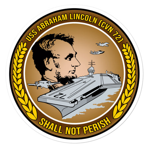 USS Abraham Lincoln (CVN-72) Ship's Crest Vinyl Sticker