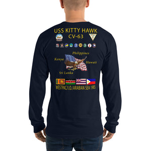 USS Kitty Hawk (CV-63) 1985 Long Sleeve Cruise Shirt