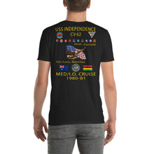 Load image into Gallery viewer, USS Independence (CV-62) 1980-81 Cruise Shirt