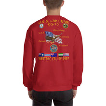 Load image into Gallery viewer, USS Lake Erie (CG-70) 1997 Cruise Sweatshirt