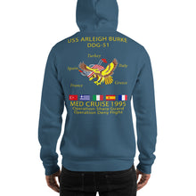 Load image into Gallery viewer, USS Arleigh Burke (DDG-51) 1995 Cruise Hoodie