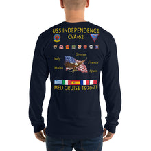 Load image into Gallery viewer, USS Independence (CVA-62) 1970-71 Long Sleeve Cruise Shirt