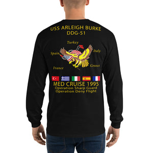 USS Arleigh Burke (DDG-51) 1995 Long Sleeve Cruise Shirt