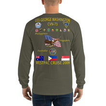 Load image into Gallery viewer, USS George Washington (CVN-73) 2009 Long Sleeve Cruise Shirt