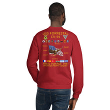 Load image into Gallery viewer, USS Forrestal (CV-59) 1991 Cruise Sweatshirt