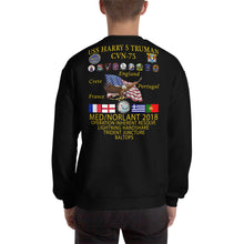 Load image into Gallery viewer, USS Harry S. Truman (CVN-75) 2018 Cruise Sweatshirt