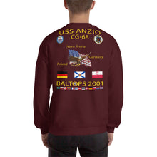 Load image into Gallery viewer, USS Anzio (CG-68) 2001 Cruise Sweatshirt