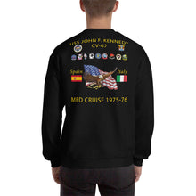 Load image into Gallery viewer, USS John F. Kennedy (CV-67) 1975-76 Cruise Sweatshirt